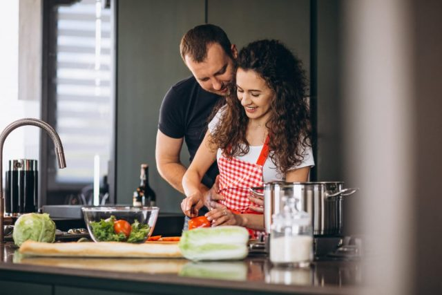 Making A Delicious Homemade Meal With A Cancer Man