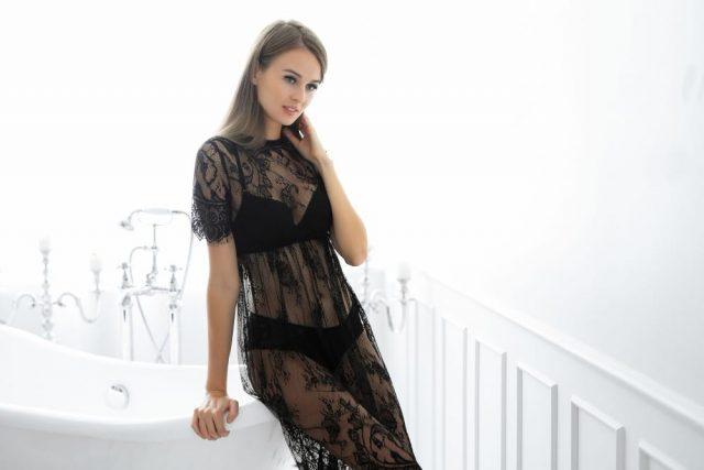 Woman Wearing Sheer Clothing